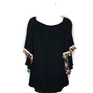 Jodifl small/medium Black beach coverup or longtop